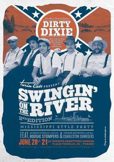 #poster #vintage #retro #lindyhop #dixieland #micheletenaglia