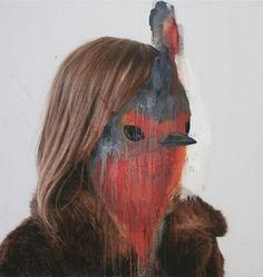 charlotte%2520caron%25205%255B4%255D.jpg (618×654) #portrait #painting #bird