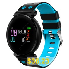 CACGO #K2 #Smart #Watch #for #iOS #/ #Android #Phones #- #BLUE