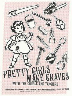 pretty girls   coqueterías #pink #print #design #graphic #poster