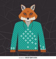 Illustrated fox hoodie http://bit.ly/29AYOil