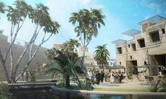 Haptic Architects: Desert Eco Resort #architecture