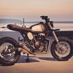 #moto #honda #nx650 #dominator by @tonupgarage by caferacerbursa