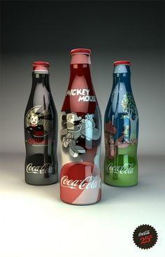 Disney Coke Bottles on the Behance Network #packaging