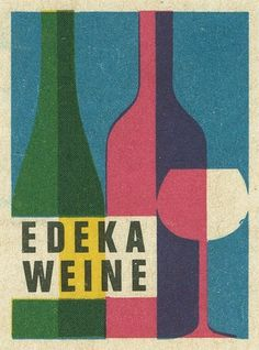 German matchbox label | Flickr - Photo Sharing! #matchbox #edeka #label #weine