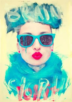 Digital Vomit by Alberto Seveso - JOQUZ #illustration #print #brush