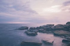 Rocks #calm #ocean #photo