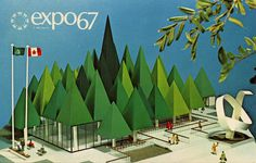 expo67, montreal, canada, graphic design, poster