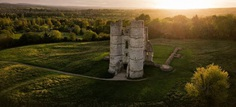 Aerial view of Donnington Castle by Jon Reid