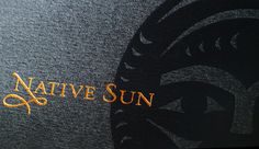 Native Sun #packaging #label #wine #typography