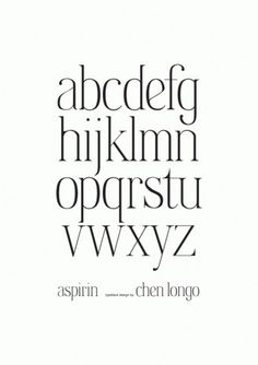 Aspirin Typeface on the Behance Network #longo #aspirin #typeface #chen #typography