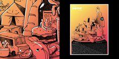 GoogaMooga 2012 Dark Igloo #igloo #illustration #dark #gradient