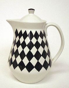 From Scandinavia with love - design & style (Svart Ruter teapot by Karin Björquist for...) #scandinavian design #porcelain #teapot