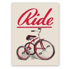 Tumblr #ride #vintage #poster
