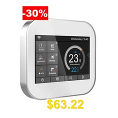 Wifi #touch #thermostat #for #water #heating #radiator #valve #by #English #German #Polish #Czech #Italian