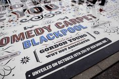 The Comedy Carpet, Blackpool   Gordon Young and Why Not Associates   typetoken® #the #comedy #carpet #art #typography