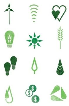 NBC Universal environmental initiative icons by Wolff Olins