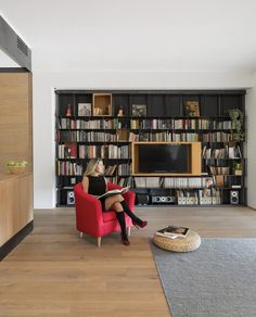 Architect Luca Compri Combined Wood and Iron to Modernize a 1960s Apartment 11