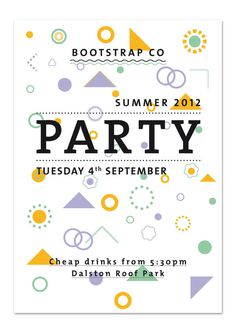 Boostrap Company Party Poster by Silvia Baz #icon #illustration #poster