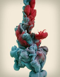High-Speed Photographs of Ink Dropped intoWater