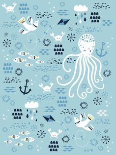 Sea Breeze Art Print #poppy #red