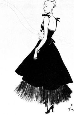 Rene Gruau #illustration #fashion #fashion illustration #rene gruau #bw
