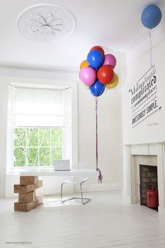 Make Mistakes. #balloons #design #desk #minimal #clever