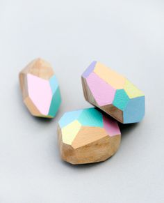 diy geometric beads // minieco #yourself #gems #do #wood #it #colour