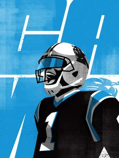 CAM01 #Illustration by Matt Stevens #Sports #NFL #Carolina #Panthers #American #Football