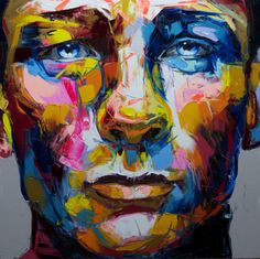 Francoise Nielly | PICDIT #design #art #portrait #painting #color #colour