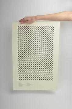 Malene Igland #print #molecular #structure #typography