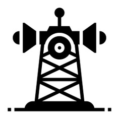 See more icon inspiration related to tower, radar, communication tower, ui, network signal, frequency, telecommunication, telecommunications, communications, signal and technology on Flaticon.