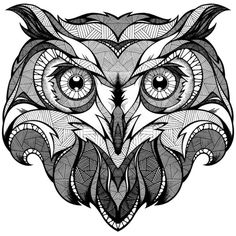 owl, totem drawing