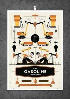 Gasoline Poster #illustration #design #graphic #poster