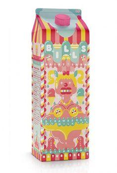 I Love Dust #ilovedust #packaging #milkshake #illustration #colors