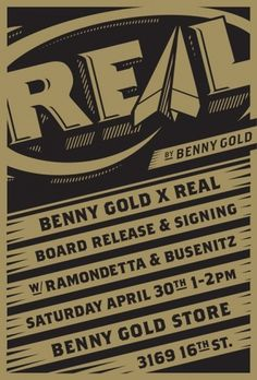 Benny Gold #flyer #design #benny #real #gold