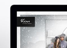 Website / Kiss by Fiona Bennett on the Behance Network #website #logo #design