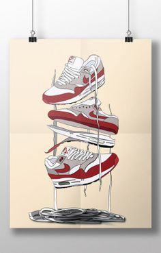 #Sneaker #nike #airmax #art #vector #poster