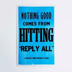 reply all #advice #typography