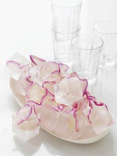 rose petal ice cubes #cubes #styling #rose #petal #food #ice