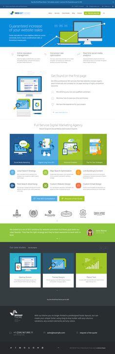 seo, flat, layout, web design, concept, blue, green