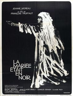 Awesome theater poster #black #the #bride #wore #truffaut