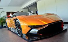 Aston Martin Vulcan in Orange#AstonMartin #Vulcan #supercar