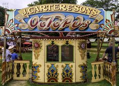 Bath, England - August 13, 2016: Octopus ride at carnival stock photo - OFFSET