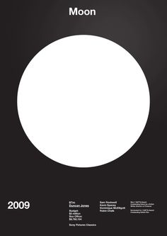 Moon Film Poster by A.N.D Studio #movie #swiss #modern #design #graphic #moon #grid #poster #film #circle #typography