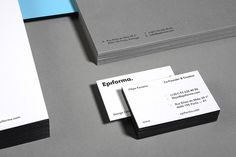 "Epiforma  |   http://epiforma.com ""We have designed ourselves a new identity. As a logomark we used a distinct typography approach wi #stationery"
