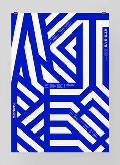 Südpol '12 F4 #design #poster #graphic #feixen #felix pfffli #maze #geometric #lines