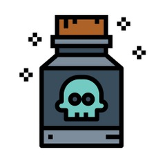 See more icon inspiration related to poison, healthcare and medical, risk, container, toxic, skull and danger on Flaticon.