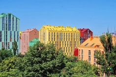 Kiev and a bright residential complex #bright #architecture #art #exterior #buildings