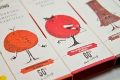 Graphic-ExchanGE - a selection of graphic projects #halftone #apple #packaging #orange #chocolate #illustration